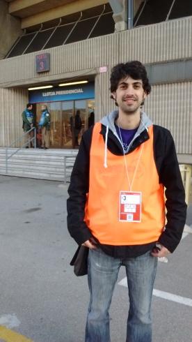 Tècnic de so retransmissió Partit de la Marató de TV3, Canal Blau TV, 2015
