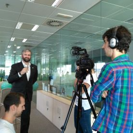 Gravació entrevistes per vídeo corporatiu, Plató Obert, 2016